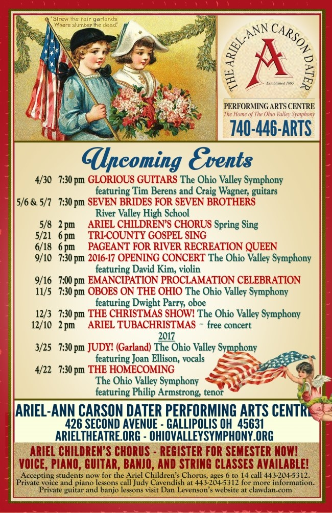 ariel spring events 2016